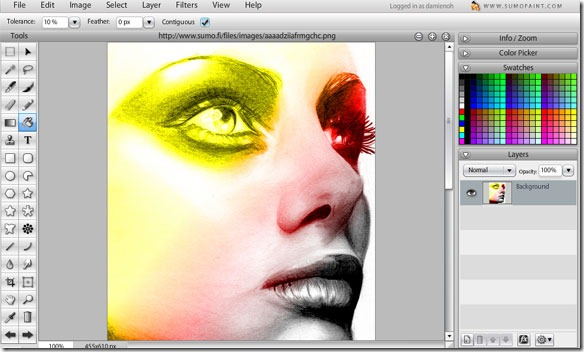 Sumo Paint Online Image Editor
