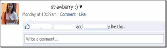 Facebook Fruit Status