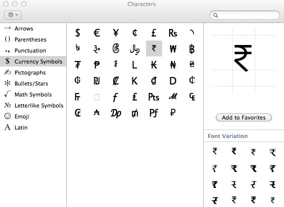 rupee symbol mac osx lion Apple : Not a review but My Experience with OS X Lion