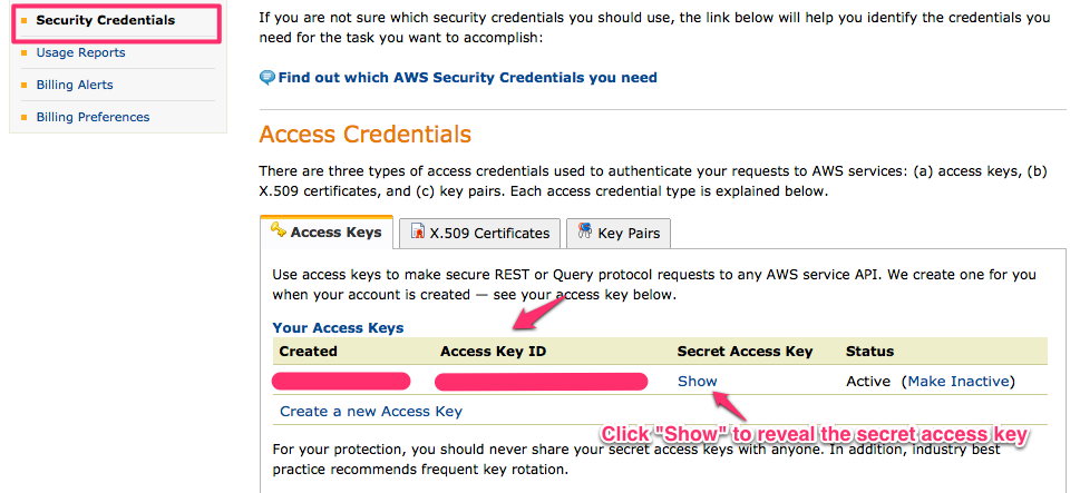 amazon security credentials How To Get Amazon Secret Key and Amazon API Key (Access Key ID)